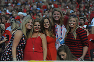 Ole Miss fans at Mississippi Rebels vs. Vanderbilt Commodores at Vaught-Hemingway Stadium at Ole Miss in Oxford, Miss. on Saturday, September 26, 2015. (AP Photo/Oxford Eagle, Bruce Newman)