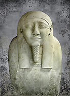 Ancient Egyptian Ptolemaic sacrophagus of the prophet Ahmose. 332-30 BC. Neues Museum Berlin AM 38. .<br /> <br /> Visit our HISTORIC WALL ART PRINT COLLECTIONS for more photo prints https://funkystock.photoshelter.com/gallery-collection/Historic-Antiquities-Photo-Wall-Art-Prints-by-Photographer-Paul-E-Williams/C00002uapXzaCx7Y<br /> <br /> Visit our Museum ART & ANTIQUITIES COLLECTIONS to browse more photo at: https://funkystock.photoshelter.com/p/museum-antiquities