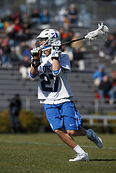2013 February 17: Justin George #27 of the Duke Blue Devils during a 3-15 win over the Mercer Bears at Koskinen Stadium in Durham, NC.