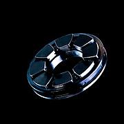 Wheel hub against black background