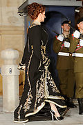 Gala dinner on the occasion of the civil wedding of Grand Duke Guillaume and Princess Stephanie at the Grand-Ducal palace in Luxembourg <br /> <br /> On the photo: Princess Lalla Salma of Morocco