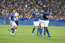 June 1, 2018 - Nice, France - Leonardo Bonucci (Italy) celebrates after scoring with teammates during the friendly football match between France and Italy at Allianz Riviera stadium on June 01, 2018 in Nice, France. (Credit Image: © Massimiliano Ferraro/NurPhoto via ZUMA Press)