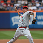 Cincinnati Reds pitcher Mat Latos in action during the New York Mets V Cincinnati Reds Baseball game at Citi Field, Queens, New York. 22nd May 2012. Photo Tim Clayton