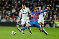 Real Madrid´s Jese Rodriguez and Levante UD´s  during 2014-15 La Liga match between Real Madrid and Levante UD at Santiago Bernabeu stadium in Madrid, Spain. March 15, 2015. (ALTERPHOTOS/Luis Fernandez)