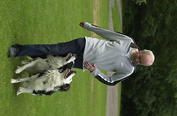 Eddie Sander with his Dogs Jackson and Inka<br /><br />18 June 2004<br /><br />Copyright Paul David Drabble<br /> [#Beginning of Shooting Data Section]<br />Nikon D1 <br /> Focal Length: 80mm<br /> Optimize Image: <br /> Color Mode: <br /> Noise Reduction: <br /> 2004/06/18 09:40:12.0<br /> Exposure Mode: Manual<br /> White Balance: Auto<br /> Tone Comp: Normal<br /> JPEG (8-bit) Fine<br /> Metering Mode: Center-Weighted<br /> AF Mode: AF-S<br /> Hue Adjustment: <br /> Image Size:  2000 x 1312<br /> 1/200 sec - F/7.1<br /> Flash Sync Mode: Not Attached<br /> Saturation: <br /> Color<br /> Exposure Comp.: 0 EV<br /> Sharpening: Normal<br /> Lens: 80-200mm F/2.8<br /> Sensitivity: ISO 200<br /> Image Comment: <br /> [#End of Shooting Data Section]