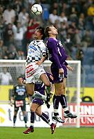 Fotball<br /> T-Mobile Bundesliga<br /> Austria Wien v Sturm Graz<br /> 4. april 2004<br /> Foto: Digitalsport<br /> Norway Only<br /> Gerald Strafner (Sturm), Sigurd Rushfeldt (A.Wien)
