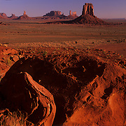 View through North Window in Monument Valley Tribal Park on the Navajo Reservation, AZ.