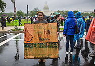 Ivory Dean, a breast cancer researcher at the March for Science in Washington on Earth Day.