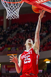 NORMAL, IL - February 16: Nate Kennell during a college basketball game between the ISU Redbirds and the Bradley Braves on February 16 2019 at Redbird Arena in Normal, IL. (Photo by Alan Look)