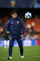December 12, 2018 - Valencia, Spain - Kangin Lee of Valencia during the match between Valencia CF and Manchester United at Mestalla Stadium in Valencia, Spain on December 12, 2018. (Credit Image: © Jose Breton/NurPhoto via ZUMA Press)