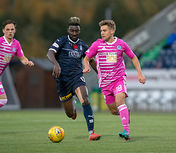 Falkirk's Prince Buaben and Ayr United's Andy Murdoch. Falkirk 0 v 1 Ayr United, Scottish Championship game played 3/11/2018 at The Falkirk Stadium.