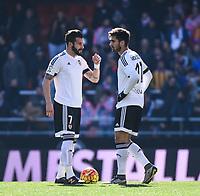 Valencia CF's  Alvaro Negredo and Andre Gomes  during La Liga match. January 17, 2016. (ALTERPHOTOS/Javier Comos)