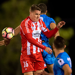 BRISBANE, AUSTRALIA - AUGUST 6:  during the NPL Queensland Senior Mens Round 20 match between Olympic FC and Gold Coast City FC at Goodwin Park on August 6, 2017 in Brisbane, Australia. (Photo by Patrick Kearney/Olympic FC)