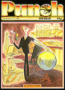 Punch (A business man with a golden touch. Front cover 12 September 1984)