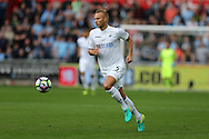 Mike van der Hoorn of Swansea city in action.  Premier league match, Swansea city v Manchester city at the Liberty Stadium in Swansea, South Wales on Saturday 24th September 2016.<br /> pic by Andrew Orchard, Andrew Orchard sports photography.