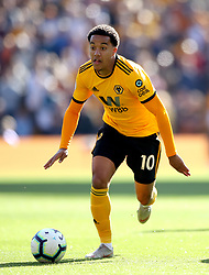 """Wolverhampton Wanderers' Helder Costa during the Premier League match at Molineux, Wolverhampton. PRESS ASSOCIATION Photo. Picture date: Saturday September 29, 2018. See PA story SOCCER Wolves. Photo credit should read: Nick Potts/PA Wire. RESTRICTIONS: EDITORIAL USE ONLY No use with unauthorised audio, video, data, fixture lists, club/league logos or """"live"""" services. Online in-match use limited to 120 images, no video emulation. No use in betting, games or single club/league/player publications."""