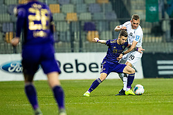 Luka Zahovic of NK Maribor and Marko Putincanin of NK Olimpija during football match between NK Maribor and NK Olimpija Ljubljana in Round #21 of Prva liga Telekom Slovenije 2019/20, 22 February, 2020 in Ljudski vrt, Maribor, Slovenia. Photo By Grega Valancic / Sportida