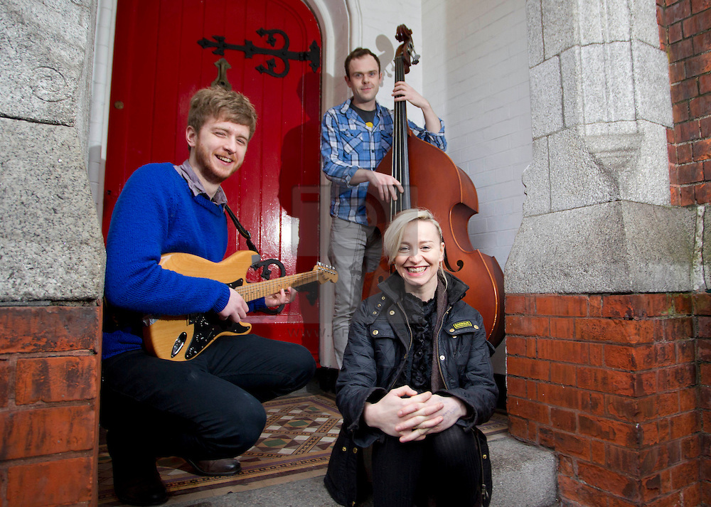 Repro Free: 16/01/2013.Pictured at the unveiling of BIMM Dublin's new and exciting second premises is singer-songwriter, Cathy Davey with students Brendan McGlynn from Donegal and Bernard Kavanagh, to announce its expansion for the academic year 2013/2014. The new premises are located less than five minutes' walk from its headquarters on Francis Street, Dublin 8. For more information visit www.bimm.co.uk/dublin. Pic Andres Poveda
