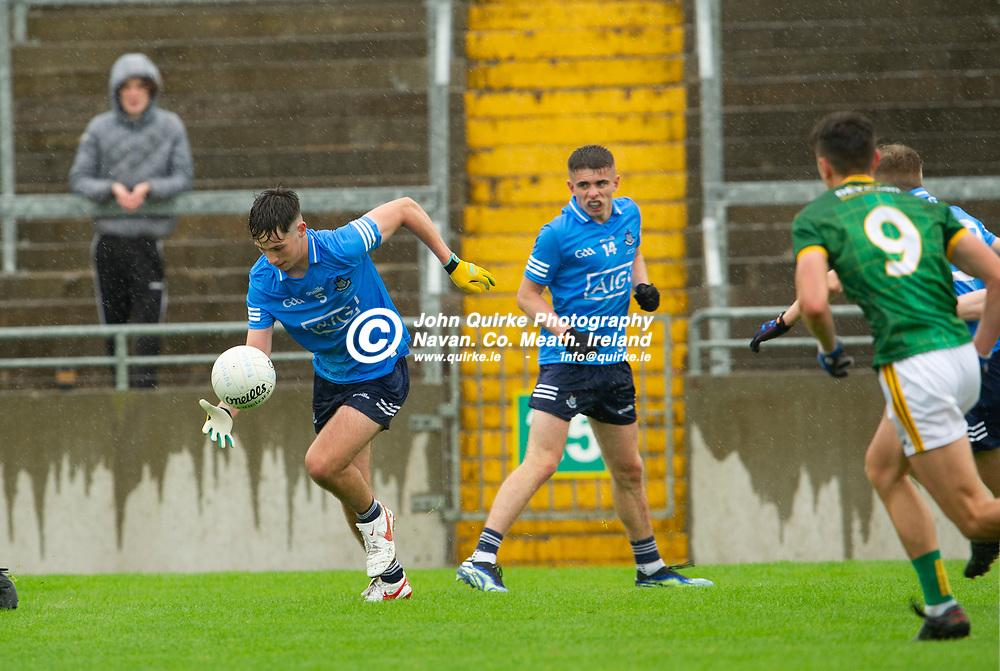 24-07-21. Meath v Louth - Leinster MFC Semi-Final at Pairc Tailteann, Navan.<br />Mathew Gardiner, Dublin in action against Meath in the Leinster MFC Semi-Final.<br />Photo: John Quirke / www.quirke.ie<br />©John Quirke Photography, 16 Proudstown Road, Navan. Co. Meath. (info@quirke.ie / 046-9028461 / 087-2579454).