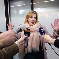 Nederland, Schiphol , 4 februari 2014.<br /> Nederlandse journaliste (o.a. werkzaam voor het Parool, BNR en het NOS) Rena Netjes bij aankomst op vliegveld Schiphol.<br /> <br /> Netjes werd in Egypte aangeklaagd wegens banden met terroristische organisaties.<br /> Foto:Jean-Pierre Jans