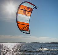 Kitsurfer on Lake Waubesa off McDaniel Park in McFarland, Dane County, Wisconsin. Photo taken Nov. 4,2020.