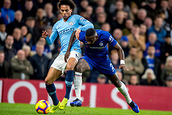 December 8, 2018 - London, Greater London, England - Leroy Sané of Manchester City and Antonio Rudiger of Chelsea during the Premier League match between Chelsea and Manchester City at Stamford Bridge, London, England on 8 December 2018. (Credit Image: © AFP7 via ZUMA Wire)