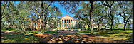 Panoramic photograph of the campus of the College of Charleson, South Carolina.  Print Size (in inches): 15x5; 24x8; 36x12; 48x15; 60x20; 72x23.5
