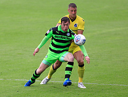 Lee Brown of Bristol Rovers battles for the ball - Mandatory by-line: Paul Roberts/JMP - 22/07/2017 - FOOTBALL - New Lawn Stadium - Nailsworth, England - Forest Green Rovers v Bristol Rovers - Pre-season friendly