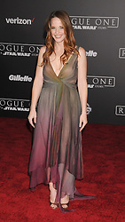 December 10, 2016 - Los Angeles, CA, United States of America - Katie LeClerc arriving at the Star Wars ''Rogue One'' World Premiere at the Pantages Theater on December 10 2016 in Hollywood, CA  (Credit Image: © Famous/Ace Pictures via ZUMA Press)