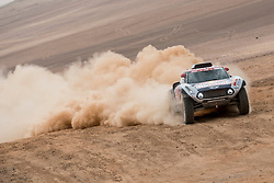 Cyril Despres (FRA) of X-raid MINI JCW Team races during stage 04 of Rally Dakar 2019 from Arequipa to o Tacna, Peru on January 10, 2019 // Marcelo Maragni/Red Bull Content Pool // AP-1Y39DQUK92111 // Usage for editorial use only // Please go to www.redbullcontentpool.com for further information. //