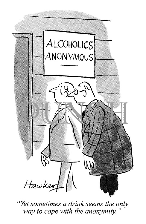 """""""Yet sometimes a drink seems the only way to cope with the anonymity."""""""