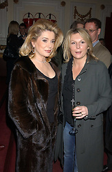 Left to rght, actress CATHERINE DENEUVE and comedian JENNIFER SAUNDERS at a special Grand Classic screening of Place Vendome to celebrate Catherine Deneuve as MAC Beauty Icon 3 held at The Elecric Cinema, Portobello Road, London W11 on 30th January 2006.<br />