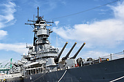Retired USS Iowa WWII Battleship Museum in San Pedro