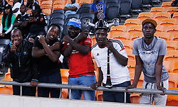 Orlando Pirates fans in match between Orlando Pirates  and Cape Town City at  Fnb Stadium on Tuesday September 19, 2017.