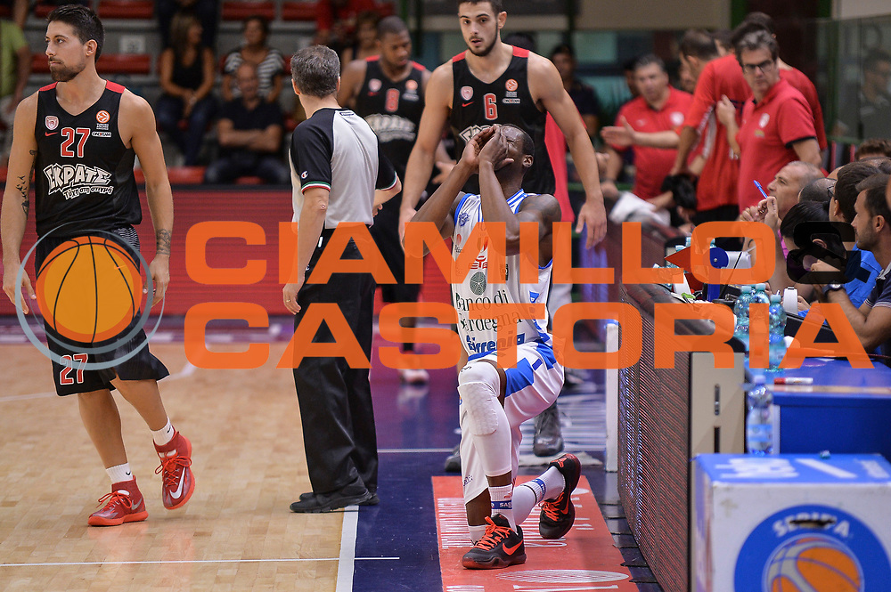 DESCRIZIONE : Trofeo Meridiana Dinamo Banco di Sardegna Sassari - Olimpiacos Piraeus Pireo<br /> GIOCATORE : Brenton Petway<br /> CATEGORIA : Before Pregame<br /> SQUADRA : Dinamo Banco di Sardegna Sassari<br /> EVENTO : Trofeo Meridiana <br /> GARA : Dinamo Banco di Sardegna Sassari - Olimpiacos Piraeus Pireo Trofeo Meridiana<br /> DATA : 16/09/2015<br /> SPORT : Pallacanestro <br /> AUTORE : Agenzia Ciamillo-Castoria/L.Canu