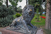 Lion statue in Miracle Park, Batumi, Georgia