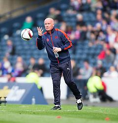 Falkirk's manager Peter Houston. Falkirk 1 v 2 Inverness CT, Scottish Cup final at Hampden.