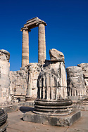 Picture of the Ionian columns of the ruins of the Ancient Ionian Greek  Didyma Temple of Apollo & home to the Oracle of Apollo.  Also known as the Didymaion completed circa 550 BC. modern Didim in Aydin Province, Turkey. .<br /> <br /> If you prefer to buy from our ALAMY PHOTO LIBRARY  Collection visit : https://www.alamy.com/portfolio/paul-williams-funkystock/didyma-temple-turkey.html<br /> <br /> Visit our TURKEY PHOTO COLLECTIONS for more photos to download or buy as wall art prints https://funkystock.photoshelter.com/gallery-collection/3f-Pictures-of-Turkey-Turkey-Photos-Images-Fotos/C0000U.hJWkZxAbg