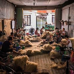 Cu Da village outside Hanoi, Traditional Noodle Making