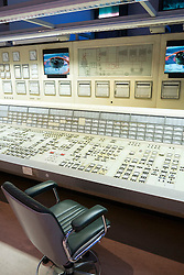Exhibit of control room at former coal fired power station  at Deutsche Arbeitsschutzausstellung DASA or German Museum of Occupational Health and Safety in Dortmund Germany