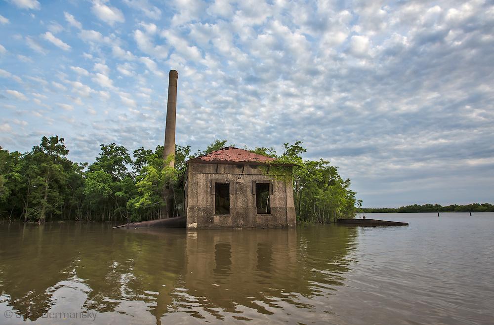 Abandoned pump station in Bayou Penchant
