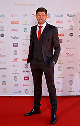 LIVERPOOL, ENGLAND - Tuesday, May 9, 2017: Liverpool's Steven Gerrard on the red carpet for the Liverpool FC Players' Awards 2017 at Anfield. (Pic by David Rawcliffe/Propaganda)