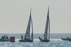10.08.2012, Bucht von Weymouth, GBR, Olympia 2012, Segeln, im Bild Echegoyen Tamara, Toro Sofia, Pumariega Angela, (ESP, Match Race).Skudina Ekaterina, Oblova Elena, Syuzeva Elena, (RUS, Match Race) // during Sailing, at the 2012 Summer Olympics at Bay of Weymouth, United Kingdom on 2012/08/10. EXPA Pictures © 2012, PhotoCredit: EXPA/ Juerg Kaufmann ***** ATTENTION for AUT, CRO, GER, FIN, NOR, NED, .POL, SLO and SWE ONLY!