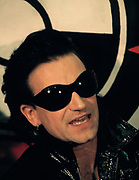 Bono from U2 at after show Greenpeace press conference 1992
