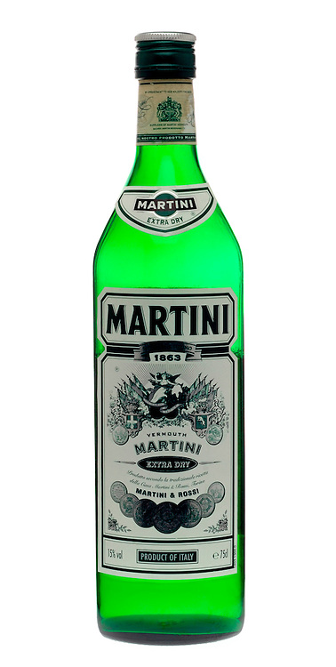 Opened Bottle of Martini Extra Dry
