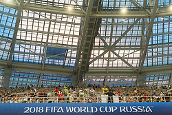 July 1, 2018 - Nizhny Novgorod, Russia - General view during the 2018 FIFA World Cup Russia Round of 16 match between Croatia and Denmark at Nizhny Novgorod Stadium on July 1, 2018 in Nizhny Novgorod, Russia. (Credit Image: © Foto Olimpik/NurPhoto via ZUMA Press)