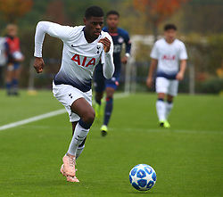 November 6, 2018 - London, England, United Kingdom - Enfield, UK. 06 November, 2018.Timothy Eyoma of Tottenham Hotspur.during UEFA Youth League match between Tottenham Hotspur and PSV Eindhoven at Hotspur Way, Enfield. (Credit Image: © Action Foto Sport/NurPhoto via ZUMA Press)