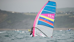 31.07.2012, Bucht von Weymouth, GBR, Olympia 2012, Windsurfen, im Bild RS:X Men, Flores Daniel (VEN) . EXPA Pictures © 2012, PhotoCredit: EXPA/ Juerg Kaufmann ***** ATTENTION for AUT, CRO, GER, FIN, NOR, NED, POL, SLO and SWE ONLY!