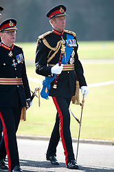 © London News Pictures. 13/04/2012. Crowthorne, UK.  HRH Field Marshal the Duke of Kent arriving at a parade at The Royal Military Academy Sandhurst in Berkshire on April 13, 2012, where Officer cadets were given their commissions to mark the end of their year's training. The parade is the first in a series of events marking 2012 as the 200th anniversary of the Royal Military Academy Sandhurst. Photo credit :  Ben Cawthra/LNP