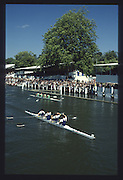 Henley on Thames. United Kingdom. Final Wyfold Challenge Cup<br /> London Rowing Club celebrate victory over  Nottinghamshire County Rowing Association Final,1990 Henley Royal Regatta, Henley Reach, River Thames. 06/07.1990<br /> <br /> [Mandatory Credit; Peter SPURRIER/Intersport Images] 1990 Henley Royal Regatta. Henley. UK